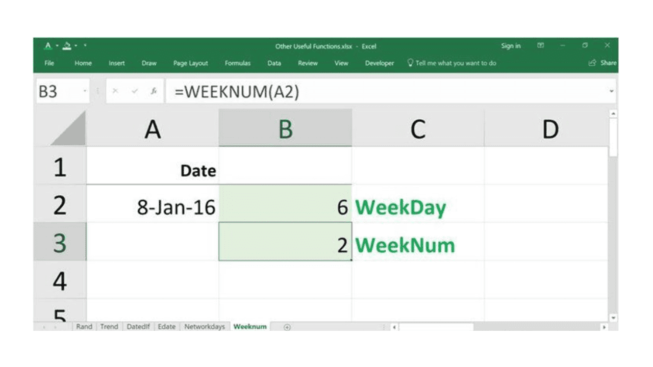 working with dates in excel