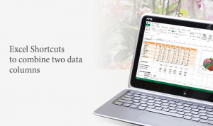 Combining-two-data-columns-Excel-shortcuts