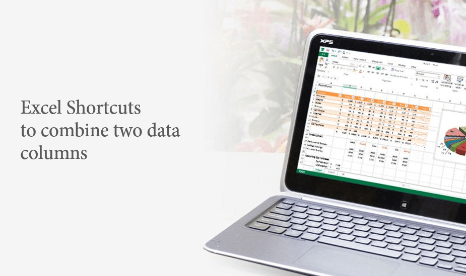 Combining two data columns using Excel shortcuts