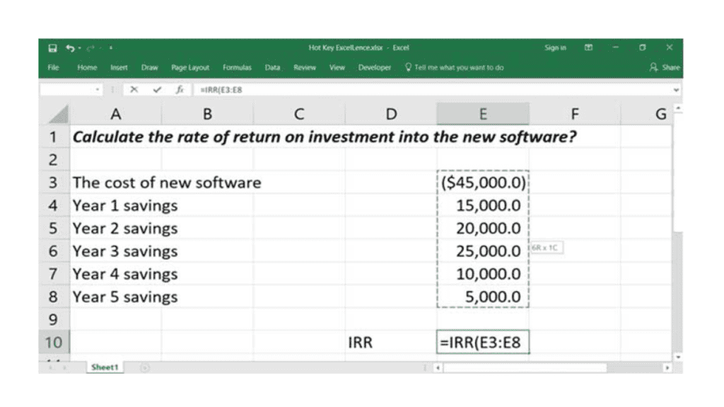 financial functions in excel