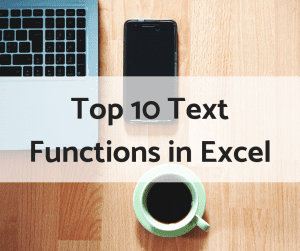 top 10 text functions in Excel