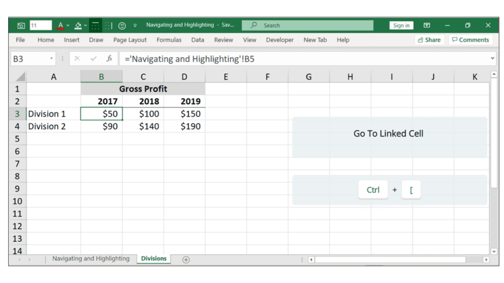 links in excel