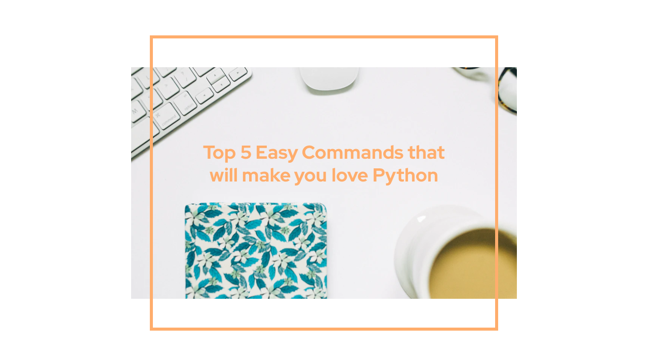 Top 5 Easy Commands that will make you love Python